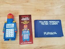 Vintage Major Morgan The Electronic Organ Toy Playskool with Double Sided Cards