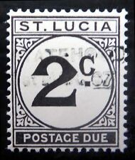 St LUCIA 1967 - 2c Postage Due Proof 2c Handstamped in Black NC230