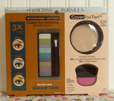 PHYSICIANS FORMULA COVERTOXTEN ANTI WRINKLE POWDER & SHADOW LINER SHIMMER STRIPS