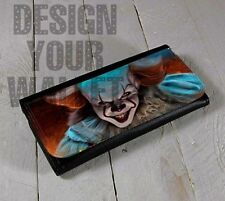 womens wallet, pennywise, wallet, bifold wallet, pennywise it movie clown wallet