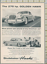 Studebaker Golden Hawk auto car 1956 magazine print ad