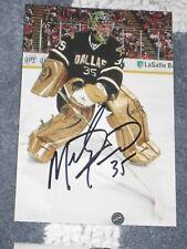Dallas Stars MARTY TURCO Signed 4x6 Photo NHL AUTOGRAPH