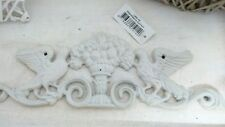 Relieve Hierro Ornamento Hierro Fundido Blanco Decoración Vintage Shabby Chic