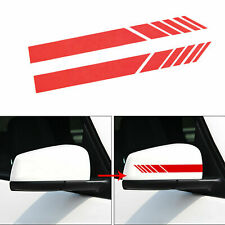 Red Racing Stripe Reflective Rearview Mirror Decor Sticker for Mercedes Benz