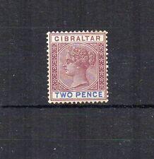 Gibraltar 1898 2d Sterling Reedición lmm