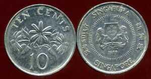 SINGAPORE - SINGAPOURE  10 cents  1989    ( etat )