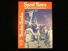 March 13, 1963 Chicago Zephyrs @ Boston Celtics Basketball Program