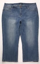 W92 Luck Brand EMMA CROP High Rise Mom Stretch Capri Jeans Plus 24W (42.5x24.5)