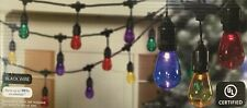 "30 Holiday Time Super Bright Transparent Multi-Color ""Edison Type"" Cafe Lights"