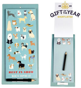 Magnetic Shopping List pad (Rex London) Fridge Notepad - Best In Show Dogs