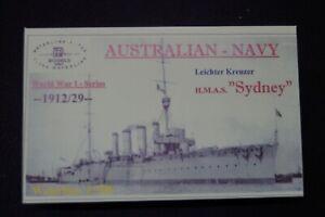 """HP Models 1:700 WL Australische Marine  Leichter Kreuzer """"Sydney"""" -1912/29-"""