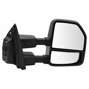Mirror Towing Manual Temp Sensor Textured Black Checker Style RH for Ford Pickup