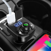 Auto Car FM Transmitter Bluetooth Dual USB Ports Music Player Adapter Converter