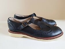 *Restored* Dr. Martens Isabel T-Bar Shoe Blue Leather size 7 brogue womens