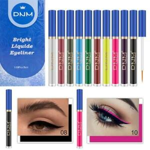 10PCS/SET Long-lasting Metallic Sparkling Glitter Liquid Eyeliner Party Makeup