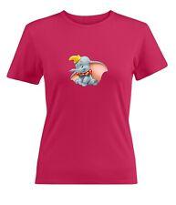 Disney Dumbo Women Junior Girl Crew Neck Short Sleeve Top Tee T-Shirt