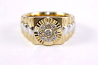 1 1/2ct Diamond Rolex Engagement Men's Wedding Band Ring 14K Yellow Gold Finish