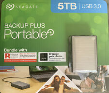 Seagate Backup Plus Portable 5TB Hard Drive STHP5000600 Rescue Data Recovery New