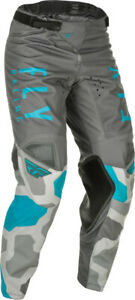 Fly Racing Kinetic K221 Pants | Grey/Blue | Choose Size