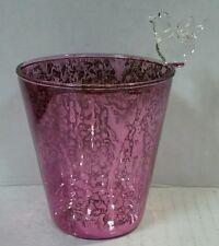 Yankee Candle Purple Glass Bird Votive Holder New !