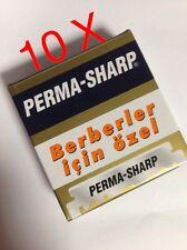 10 X Perma Sharp único Borde Profesional Razor Blades 1000 Piezas Entrega Gratis