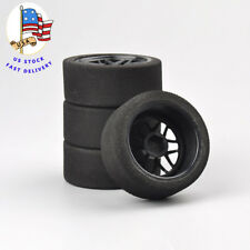 4Pcs Foam Tires Wheel Rims Set 12mm Hex For RC HSP HPI 1:10 On-Road Racing Car