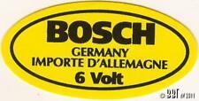 Original 6V Bosch Coil Sticker