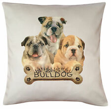 Bulldog Puppy Breed of Dog Cotton Cushion Cover - Perfect Gift