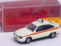 Opel Kadett GSI Notarzt in creme mit OVP, unbespielt, Herpa, 1:87