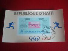 HAITI - 1969 OLYMPIC MARATHONS 3 - UNMOUNTED USED SOUVENIR MINIATURE SHEET