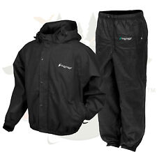 S SM Frogg Frog Toggs Pro Action Black Rain Jacket & Black Rain Pants Suit