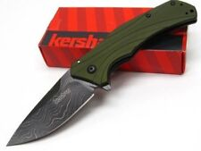 Couteau Damas Kershaw Knockout A/O Green Lame 128 Couches Made USA KS1870OLDAM