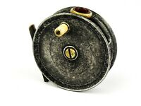 """ARTHUR ALLAN (GLASGOW) made by J W YOUNG RED AGATE 3 1/2"""" ALLOY TROUT FLY REEL"""
