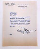 Warren Magnuson WA US Senator Signed Letter - 1948 Communism McCarthyism HR 5852