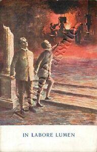 Cartolina commemorativa - Pro ciechi di guerra (in labore lumen)