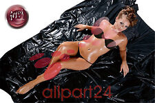 Latex/Vinyl Lack Laken/Bettlaken SOFT 200x230 cm (2,00x2,30m) schwarz 2860066100