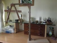 Clock test stand for cuckoo clocks whole clock or movement fit adjustment/repair