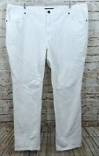 Faded Glory white jeans womens 24W straight leg stretch five pocket G6