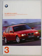Prospekt BMW 3er E 36 compact  (316i, 318ti, 318tds), 1.1997, 32 Seiten