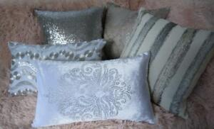 Tones of Silver & Grey Mix & Match Cushion Covers