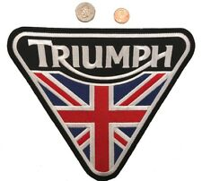 TRIUMPH MOTORCYCLES IRON ON PATCH NEW BIKER PATCH (9 Inch) USA SHIPPER