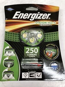 Energizer Vision HD Plus 250 Lumen LED Headlight Green New