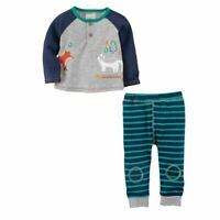 New Mudpie Infant Boys Play All Day 2 pc Set - 12 Mos
