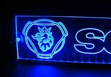 12V Blue LED Interior Cabin Light Plate for SCANIA Truck Bus Neon Table Sign