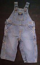 08723551a Oshkosh b 'gosh Bebé Niño Mono 9M Azul Tren Ingeniero del dril de algodón  de Rayas Hickory