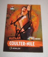 Nathan Coulter-Nile signed Perth Scorchers BBL Card  + COA