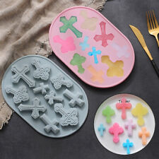 Silicone Chocolate Mould 10pcs Cross Cake Ice Cube Tray Jelly Cookie Candy Mold