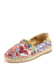 Prada Jacquard 20mm Espadrille Multicolored Shoes  MSRP $570 Size 41