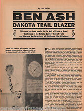 Dakota Trail Blazer - Ben Ash - Hall of Famer+Custer,Dodge,Hickock,Sitting Bull+