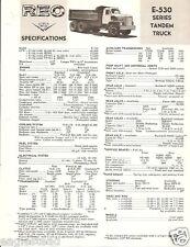 Truck Brochure - Reo - E-530 series - Tandem - 1964 (TB525)